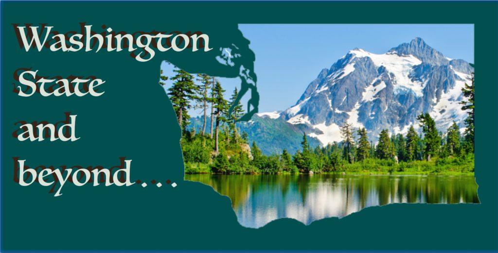 Mt. Baker inside Washington State outline image