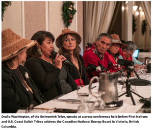 Northwest Tribal Leaders opposing Kinder Morgan