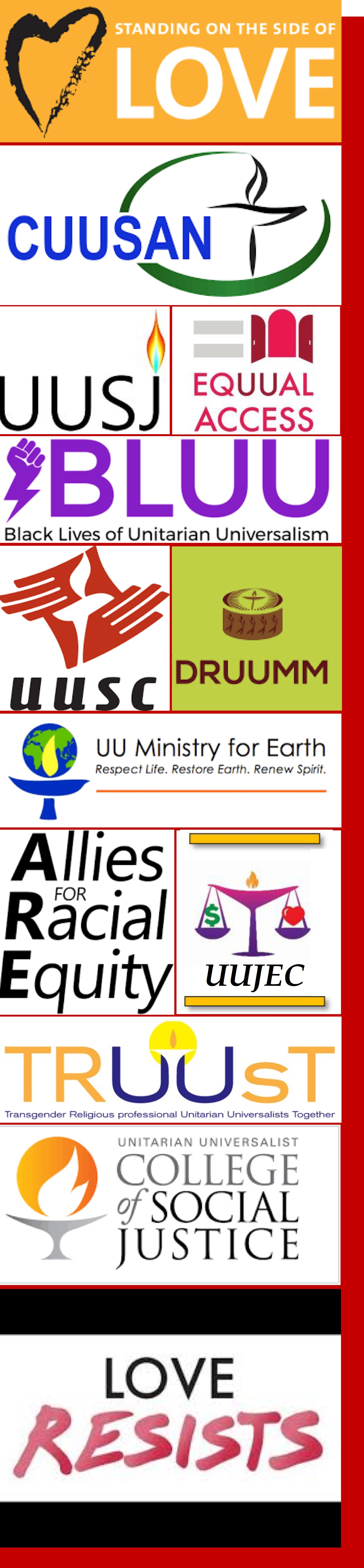 Graphic images of UU organization logos