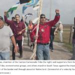 Carrizo Camecrodo Tribe protest construction of border wall