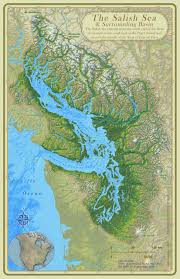 Geological map of Salish Sea