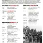 Calendar of events for Chief Seattle Days