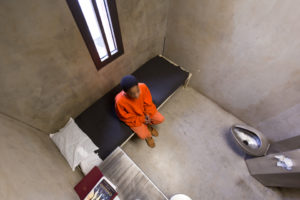Youth pictured in solitary confinement cell
